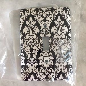 Two Damask Switch Plate Covers